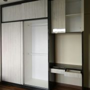 Full height sliding door wardrobe